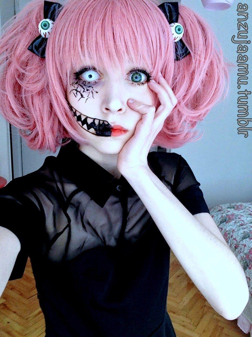 Cute Halloween Makeup and Wig | Pastel goth makeup, Cute ...