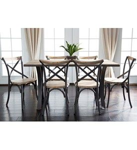 7-Piece Reclaimed Dining Set by Walker Edison Image