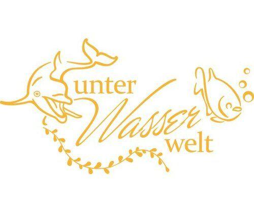 Unterwasserwelt,Fish Wall Sticker East Urban Home Colour: Golden yellow, Size: 110 cm H x 205 cm W