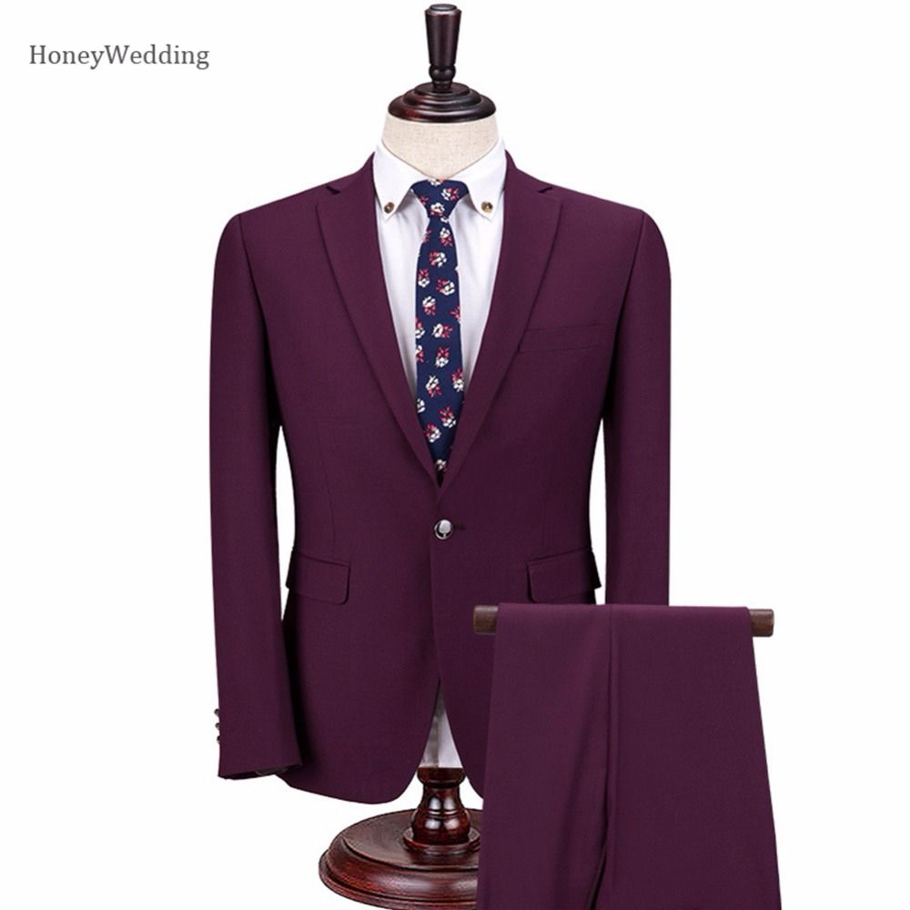Click to buy ucuc men suits fashion one button menus slim fit
