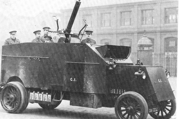 The Pierce Arrow Armored Anti Aircraft Lorry Armored Vehicles