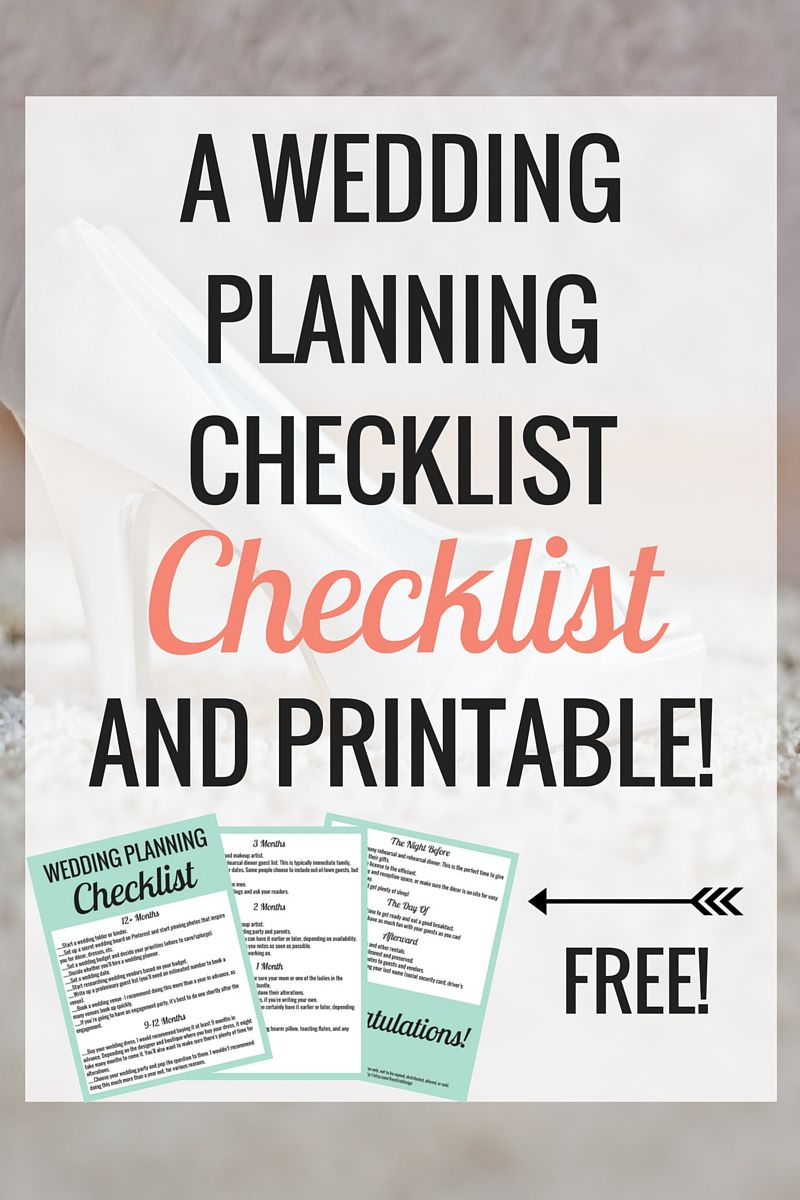 The Wedding Planning Checklist to Make Your Life Easier (Free ...