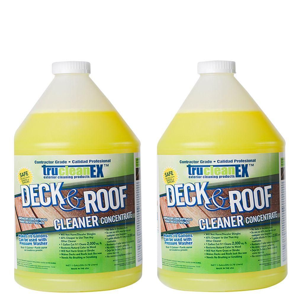 Cfi 1 Gal Trucleanex Deck And Roof Cleaner Concentrate 2 Pack Deck Biodegradable Products Mildew Stains