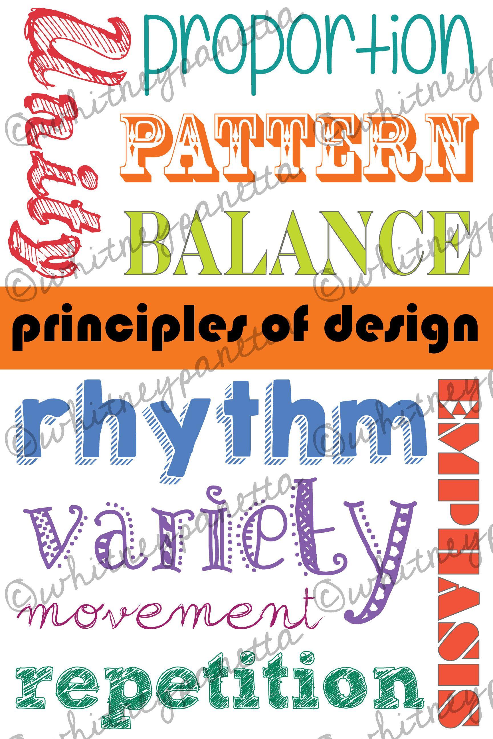 Principles Of Design Poster Preview