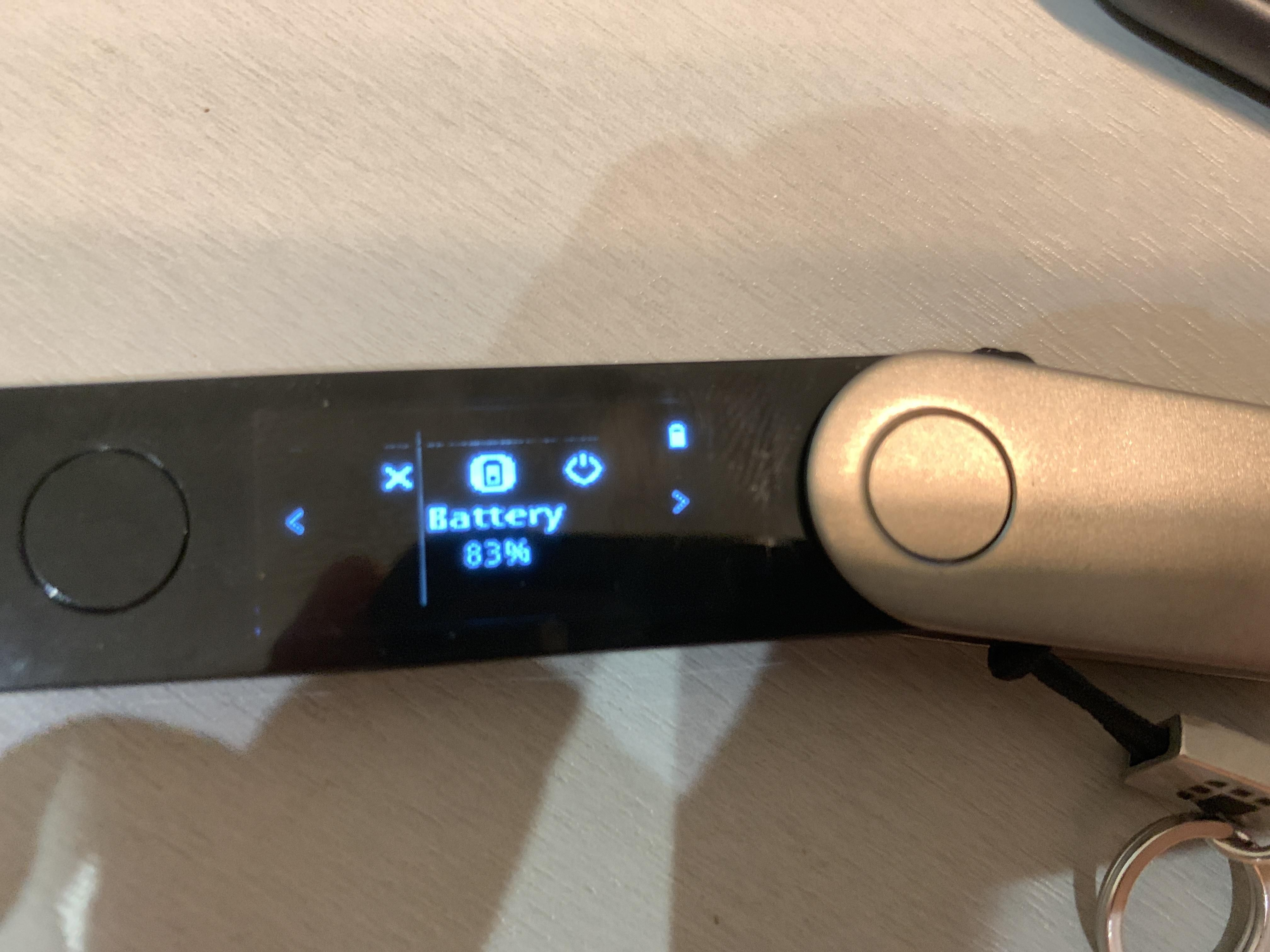 The Ledger Nano X is a Bluetooth enabled secure device