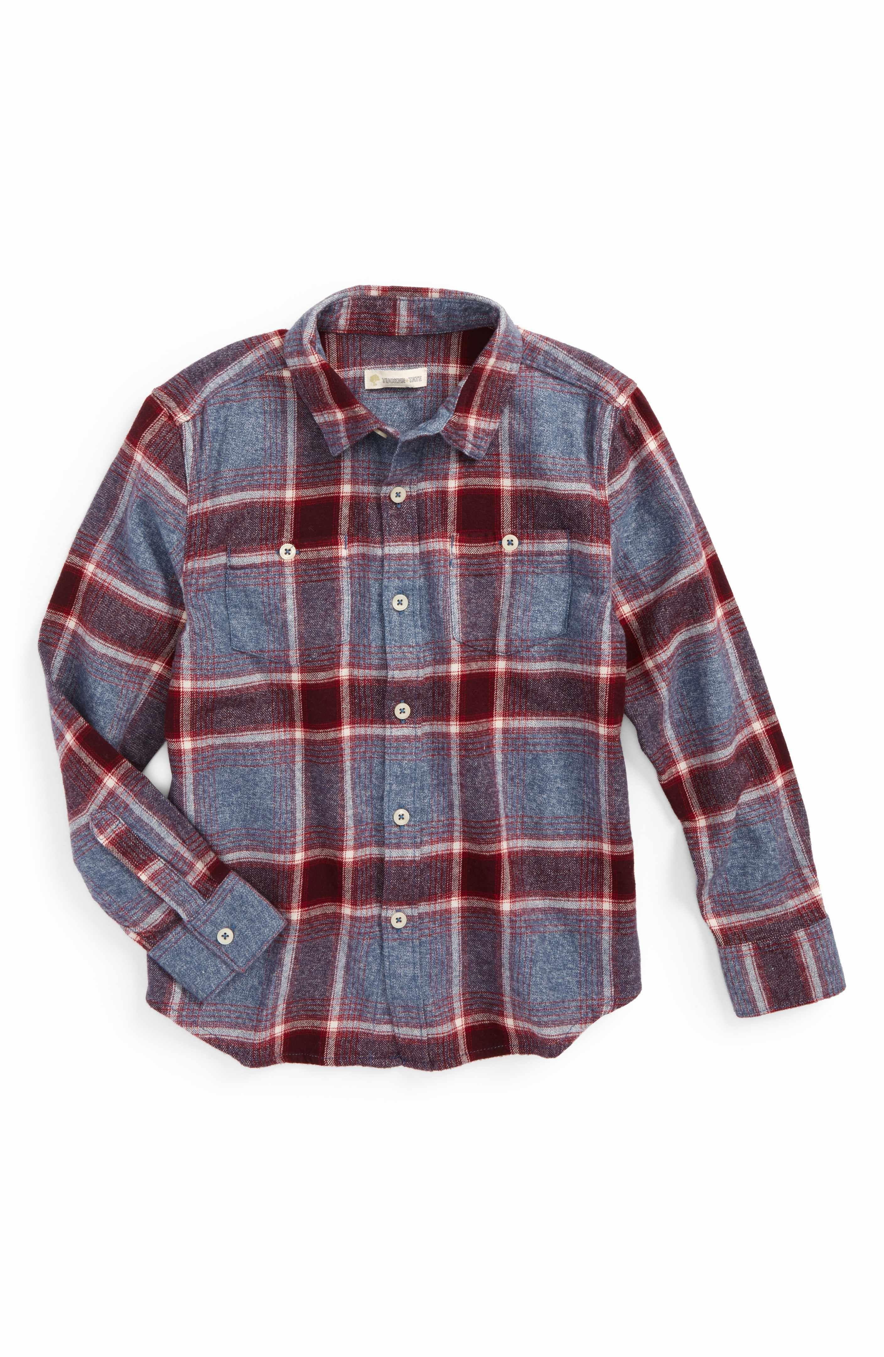 36a63a7f2 Main Image - Tucker + Tate Plaid Flannel Shirt (Toddler Boys & Little Boys)