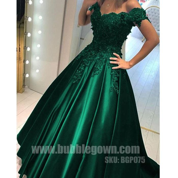 Off The Shoulder Green Elegant Formal Long Prom Dress Bgp075the Is Fully Lined 4 Bones In Bodice Chest Pad Bust Lace Up Back Or