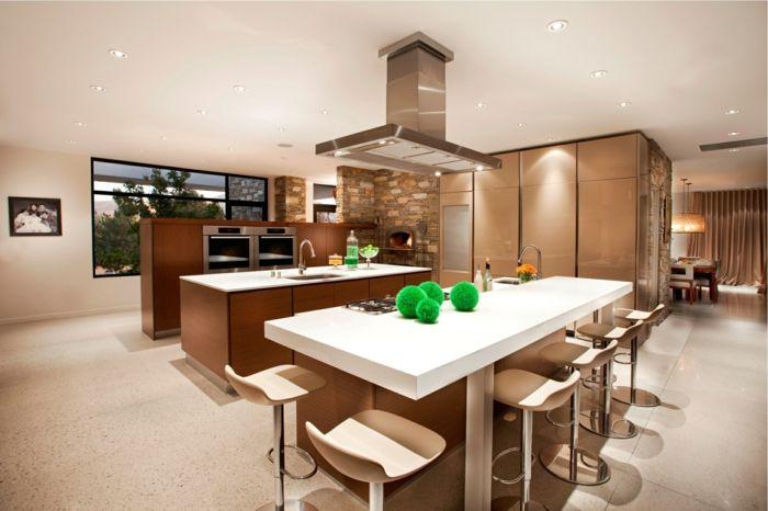 Wohnküche Stilvoll Und Funktional Mit Schöner Farbkombination In