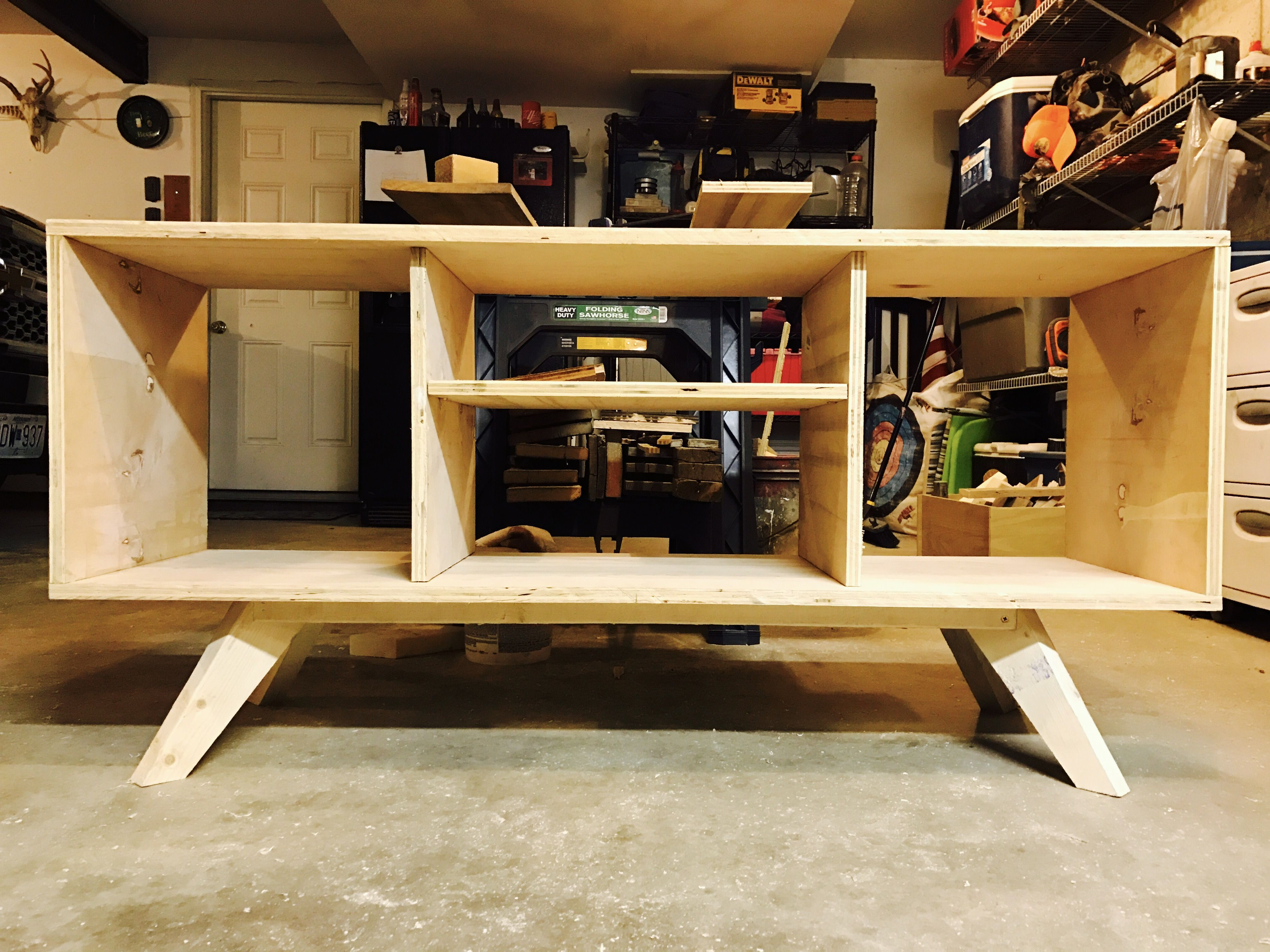 Tv Stand Made From Birch Plywood Tv Stand Plans Tv Stand
