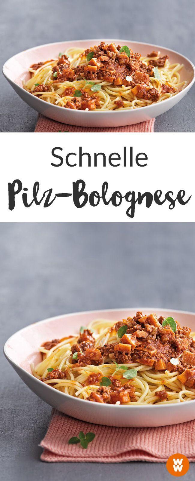 Schnelle Pilz-Bolognese mit Spaghetti Rezept   WW Deutschland