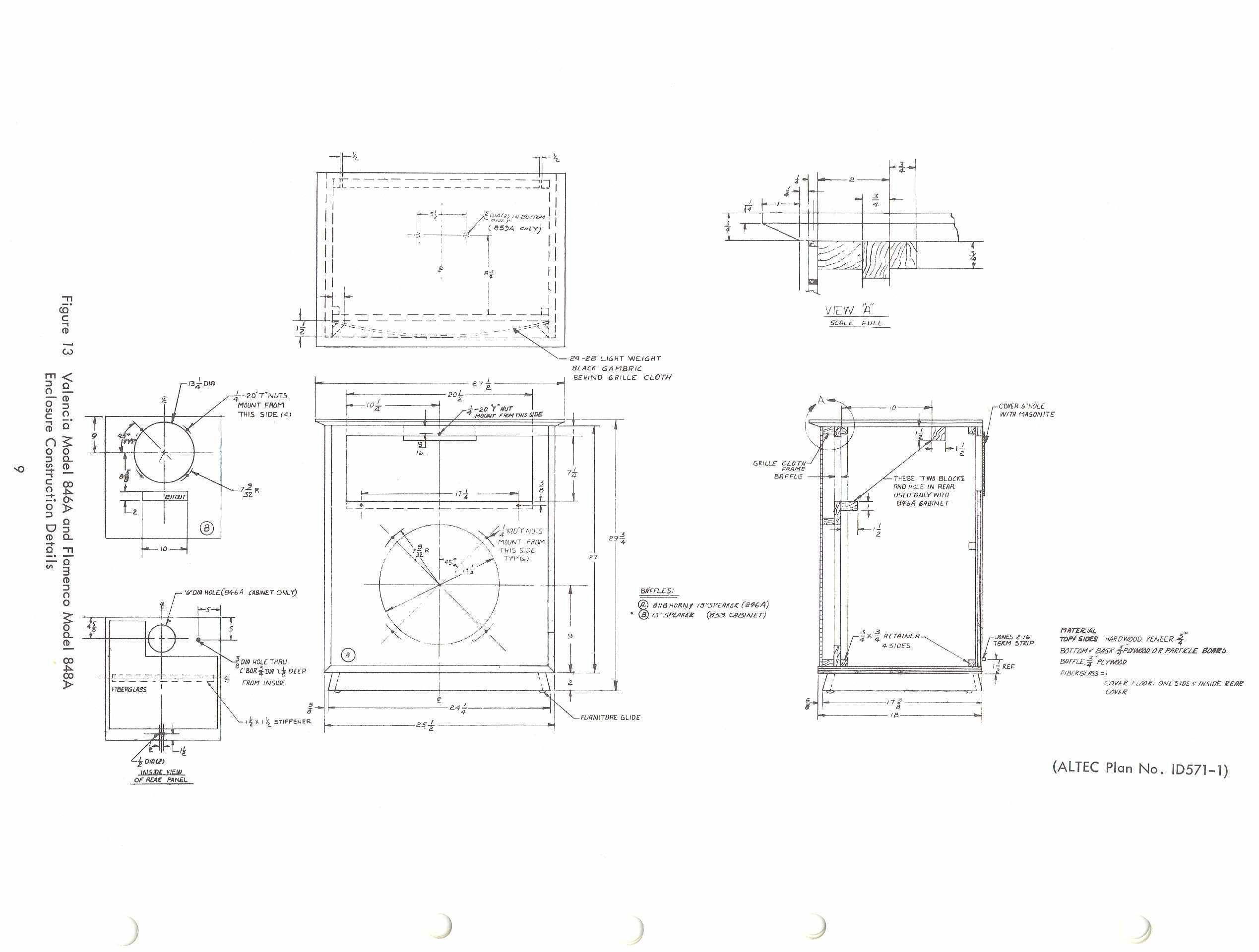 Altec Valencia cabinet plans | Speaker Plans | Pinterest ...