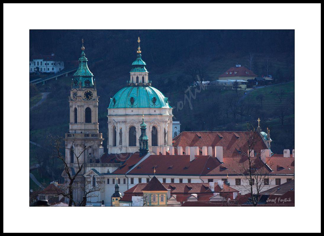 Framed fine art photography - Church of Saint Nicholas, Lesser Town, Prague, Czech Republic. Photo: Josef Fojtik - www.joseffojtik.com - https://www.facebook.com/Fineartphotoprints