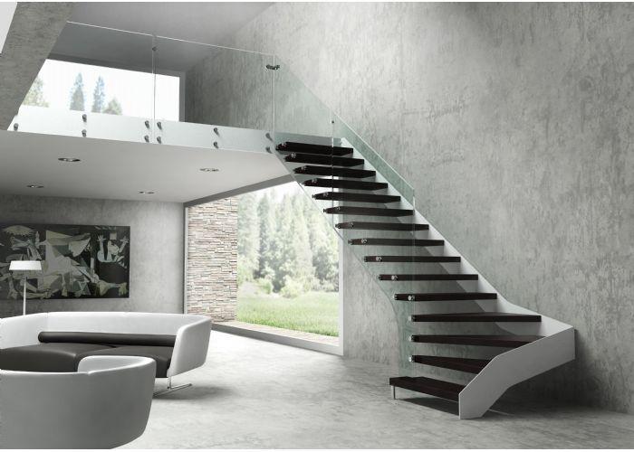 33 escaleras de metal madera y cristal escalera for Escaleras decorativas de interior