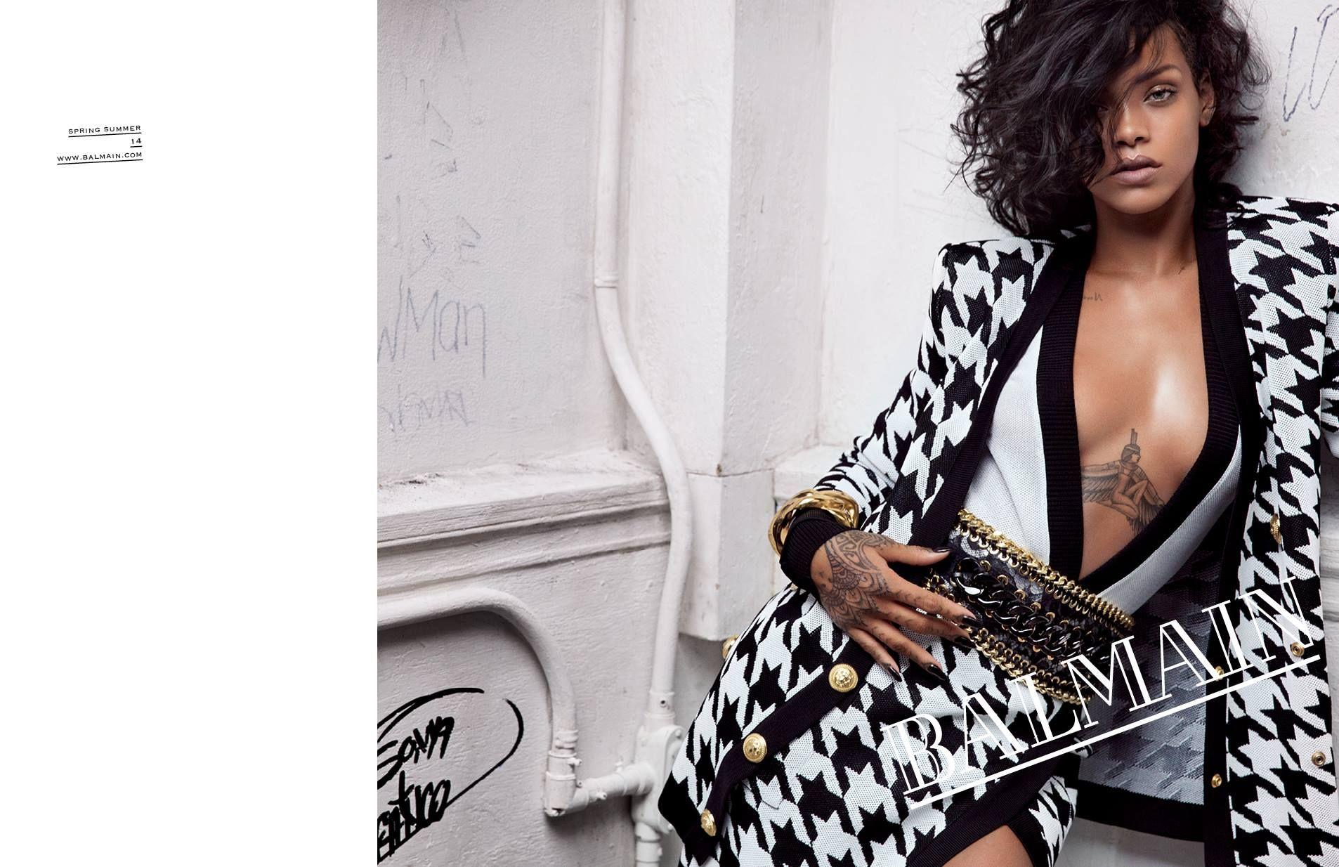 Rihanna Stars in Balmain Spring 2014Campaign