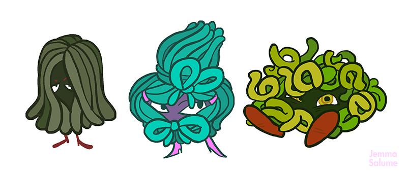 """Pokemon - """"I got Tangela."""" by Jemma Salume (Oxboxer on Tumblr)"""