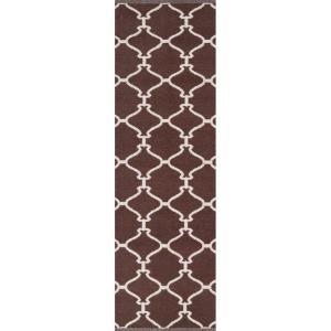 Artistic Weavers Ganta1 Dark Chocolate 2 ft. 6 in. x 8 ft. Flatweave Runner-Ganta1-268 at The Home Depot