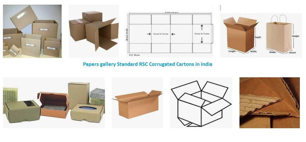 Papers gallery offer you all type of sizes of RSC corrugated