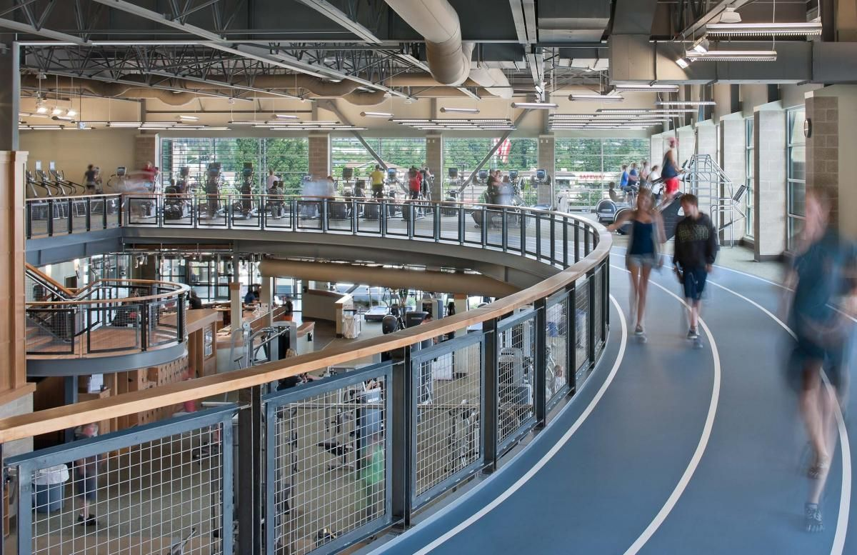 Haselwood Ymca Bcra Indoor Track Gym Architecture Ymca