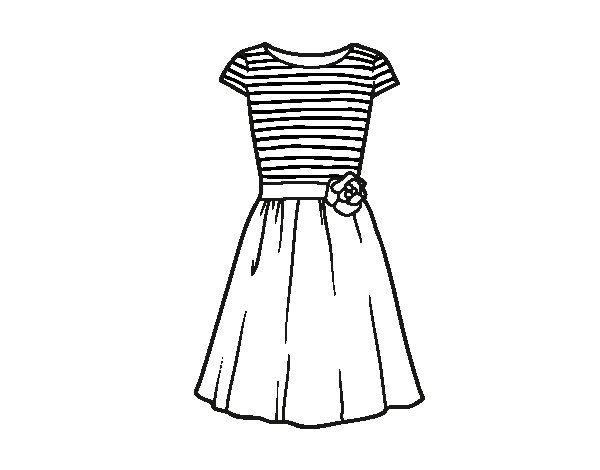 Dibujo De Vestido Casual Para Colorear Dibujos Net Vestidos