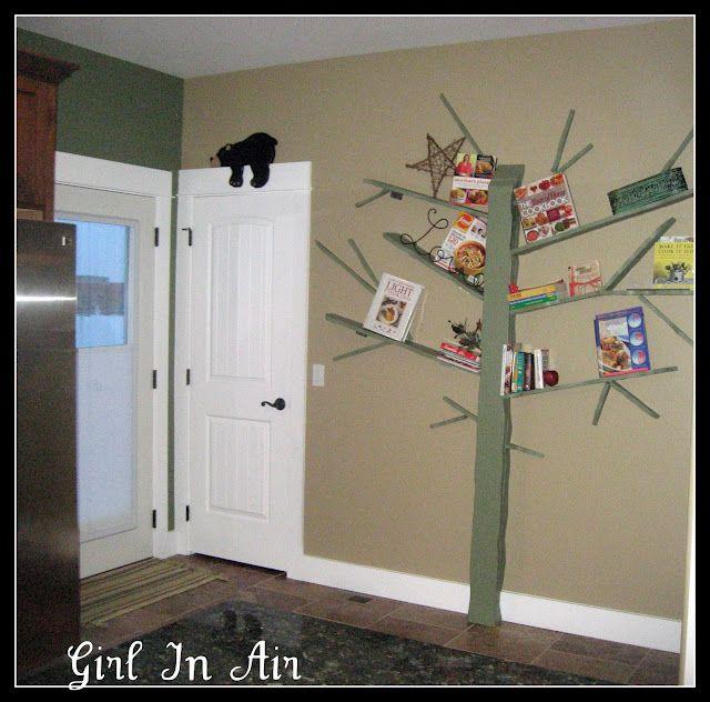 How to : http://www.girlinair.com/2011/03/make-tree-bookshelf.html