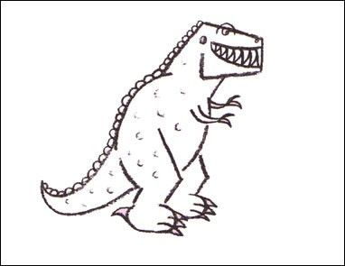 how to draw dinosaurs - how to draw a tyrannosaurus | dyr