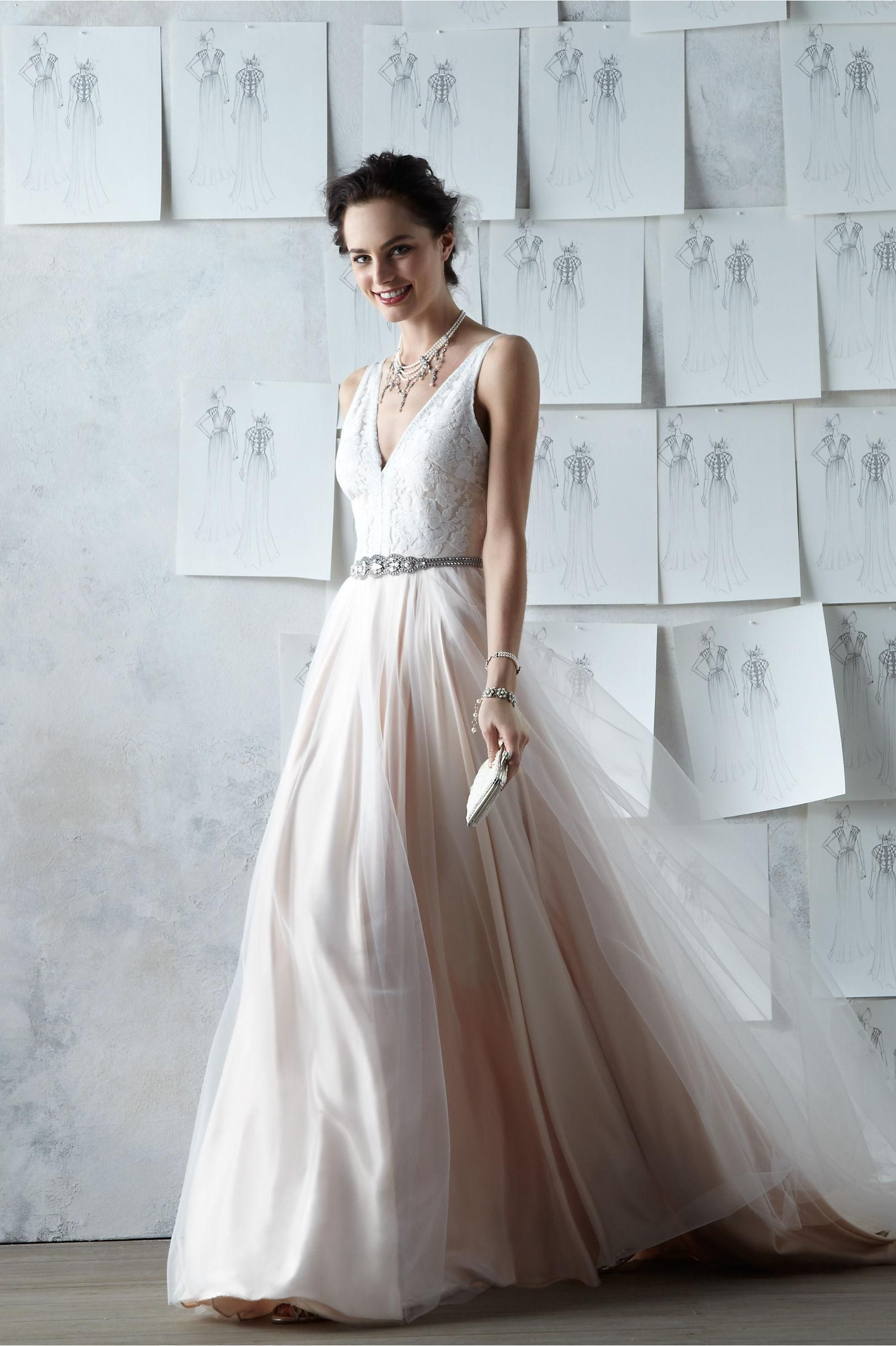 Product Tamsin Gown From Bhldn Blush Pink Wedding Dress