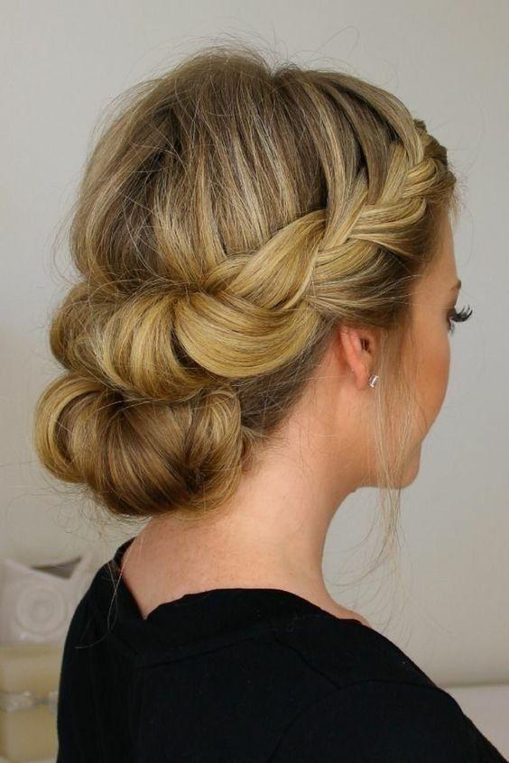 coiffure mariage cheveux long invité