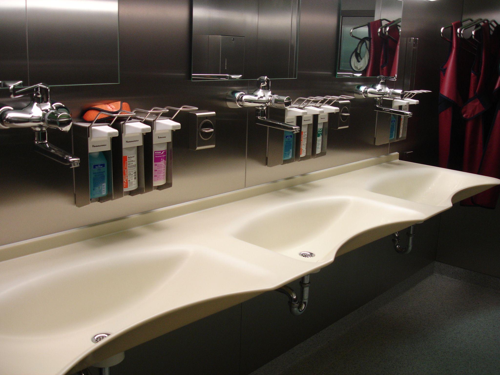 mineralwerkstoff waschbecken badezimmer design