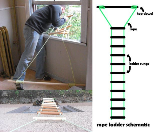 Rope Ladder Glow In The Dark Version Fire Escape Ladder Rope Ladder Ladder