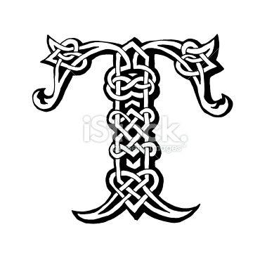 celtic Letters t