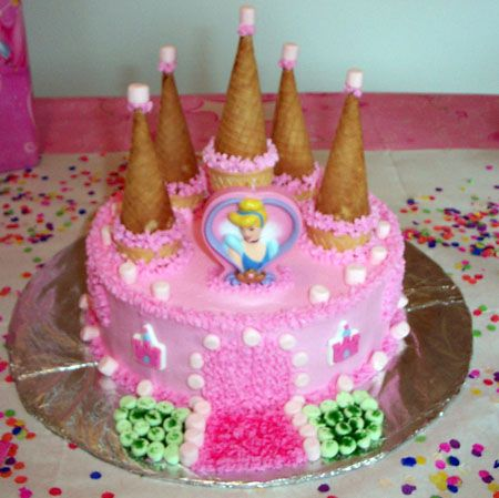كيكة زهرية للأميرة الصغيرة صور كيكة تورتة شوكولاتة حلويات Princess Birthday Cake Castle Birthday Cakes Birthday Cake Recipe
