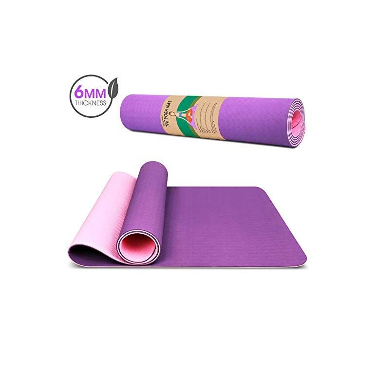 Dralegend Yoga Mat Exercise Fitness Mat High Density Non Slip Workout Ma For Yoga Pilates Exercises Anti Tear Sweat Proof Classic 1 4 Inch Fitness In 2020 Pilates Workout Mat Exercises Yoga