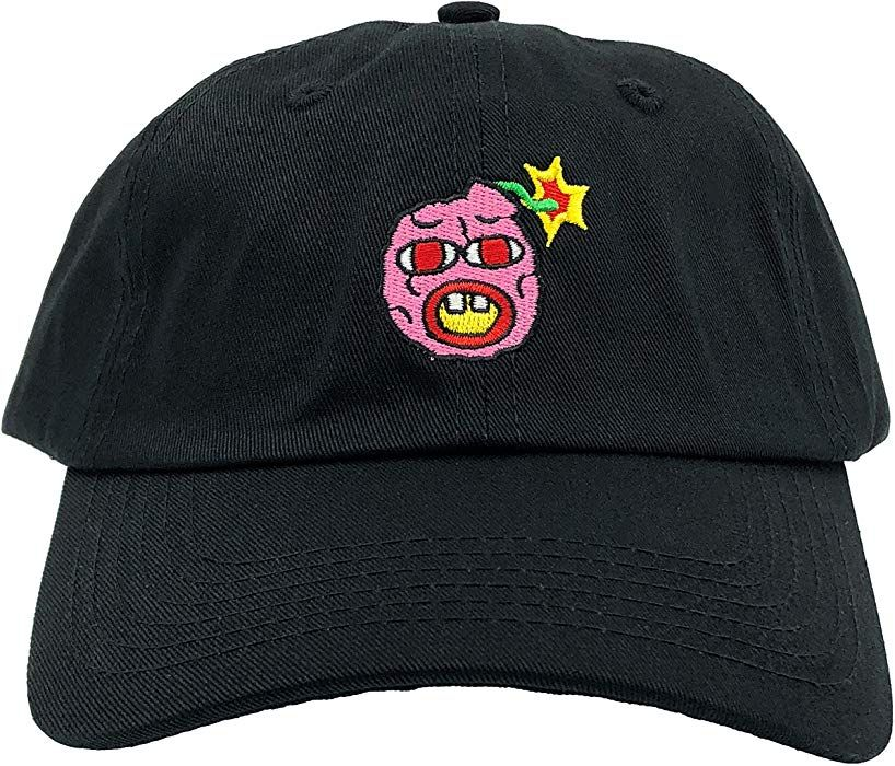ae66a2446641 Cherry Bomb Hat Wolf Dad Hat Gang Bee Golf Baseball Cap Adjustable  Embroidered (Black) at Amazon Men s Clothing store