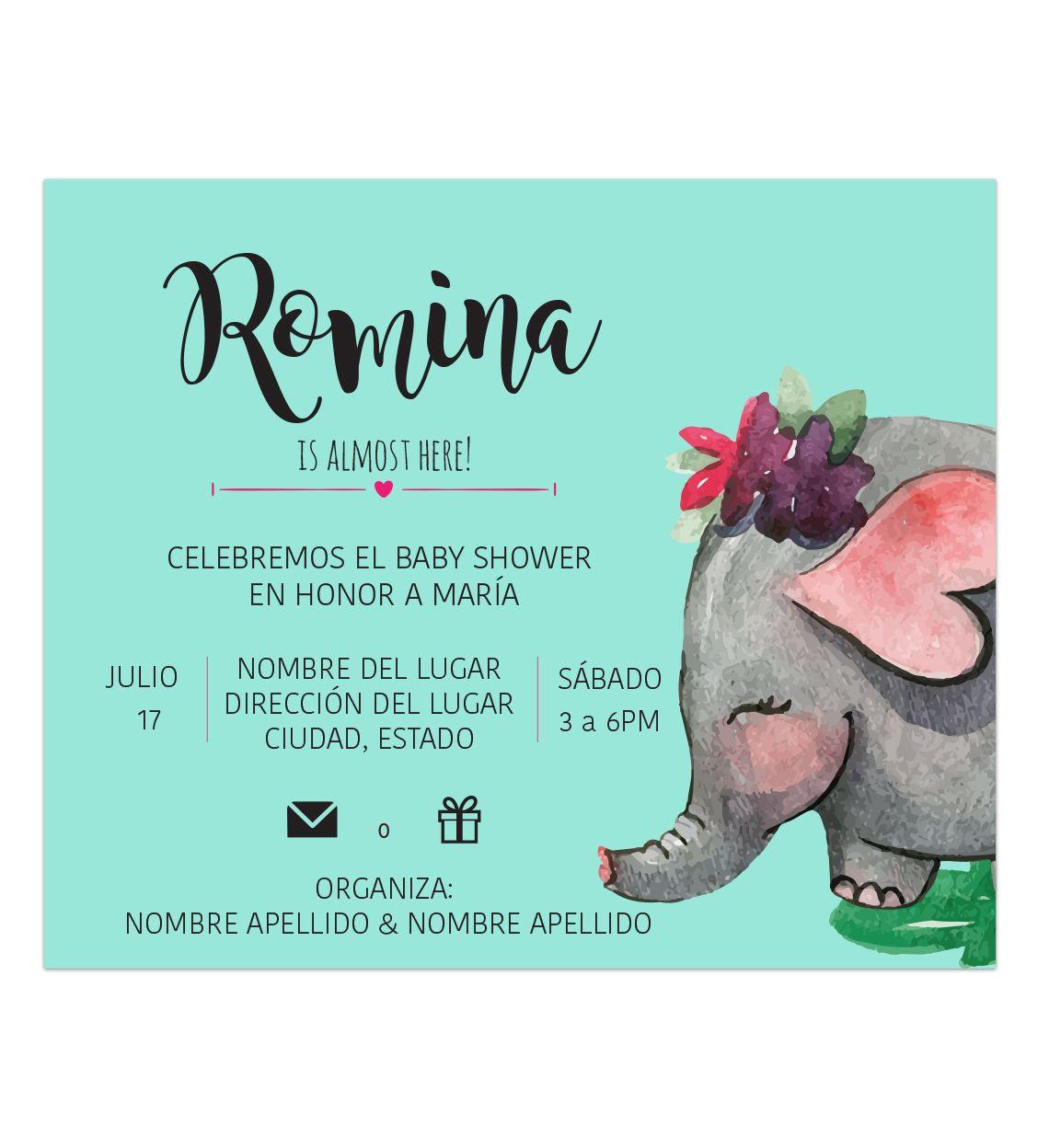 Invitación Baby Shower Manny Para Tu Evento Especial En 2019