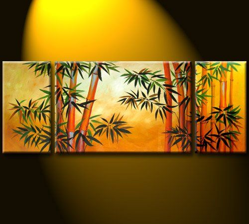 Chinese Bamboo painting is for home and office Feng Shui decor