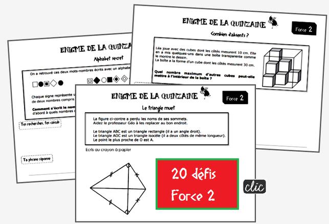 Les Enigmes Pour Placer Les Eleves En Situation De Recherche Enigme Mathematique Defi Maths Enigme Maths