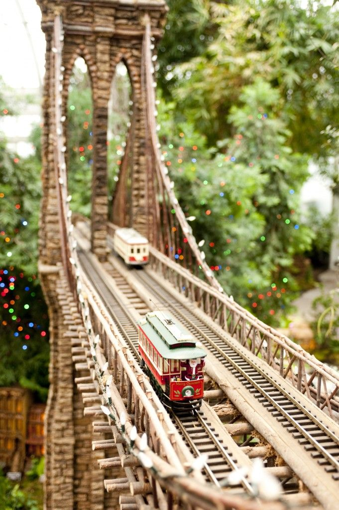 More Botanical Garden Holiday Train Show, Up And Chugging Right Along In  The Enid A.