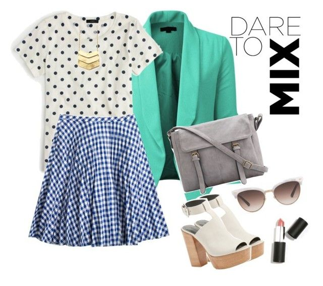 """Dare to mix"" by taynacoelho on Polyvore featuring LE3NO, J.Crew, Rebecca Minkoff, Gucci and Sigma Beauty"