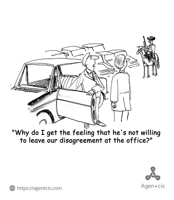 When the deliberation has gone so far! Business Cartoons