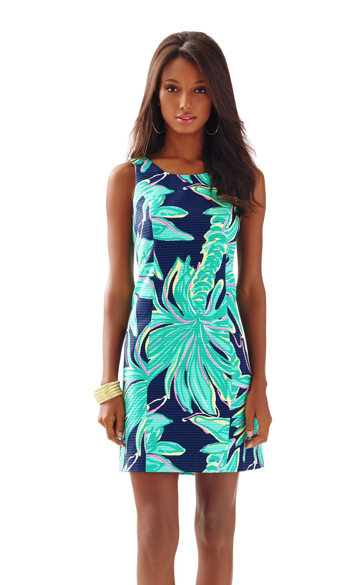 60c1c92a6df815 Cathy Shift in Bright Navy Tiger Palm | Lilly Pulitzer | Dresses ...