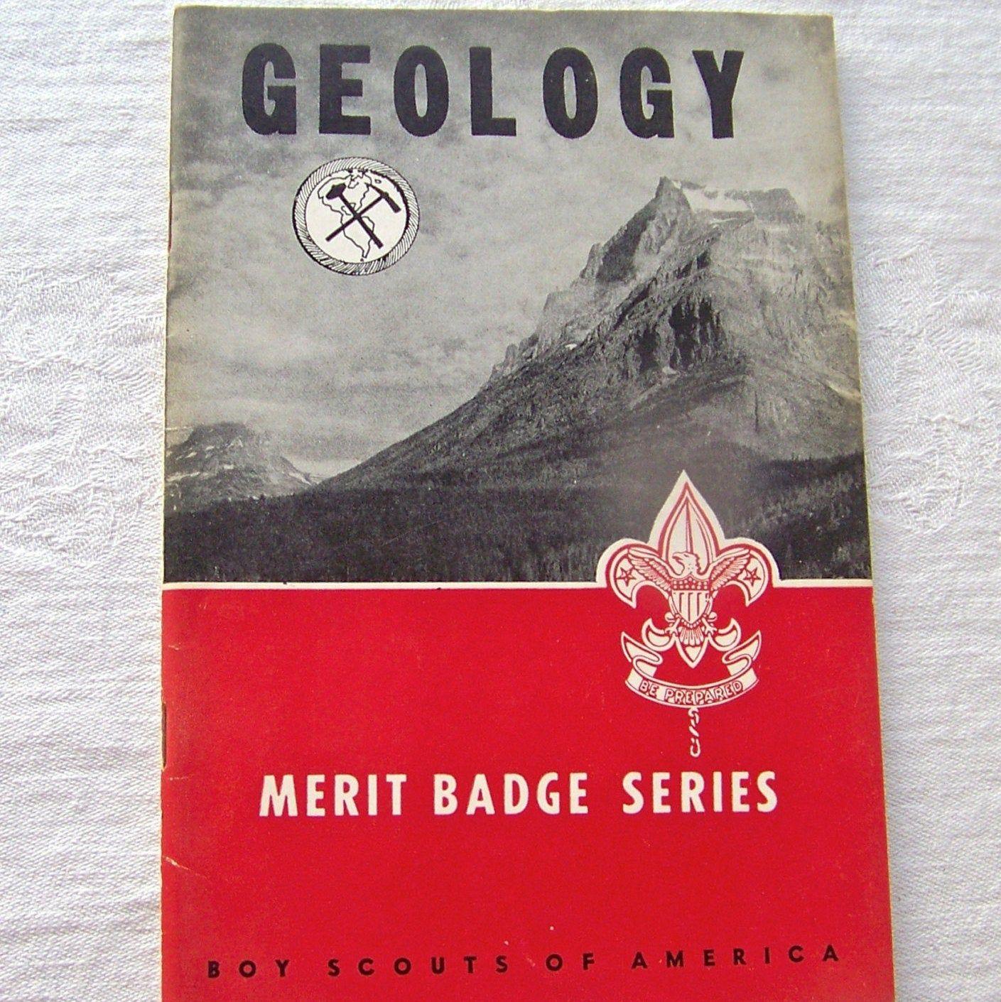 Vintage Boy Scout Booklet Geology Merit Badge In