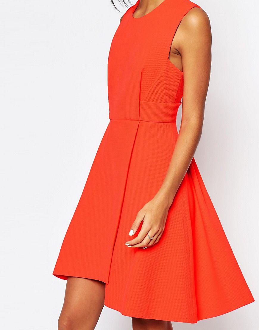 Image 3 ofWhistles Textured Dress in Orange