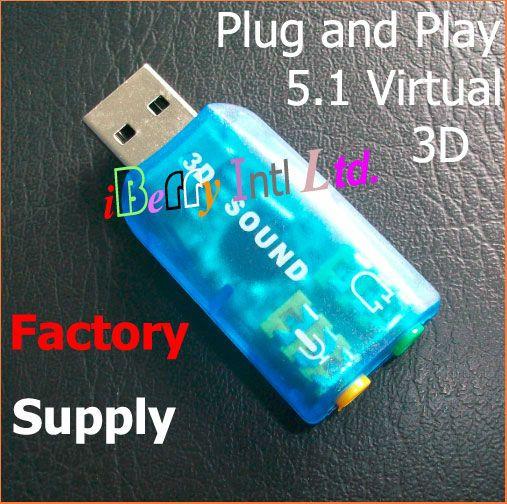 Free Shipping 310pcs/lot C-Media CM108 chipset Sound Card