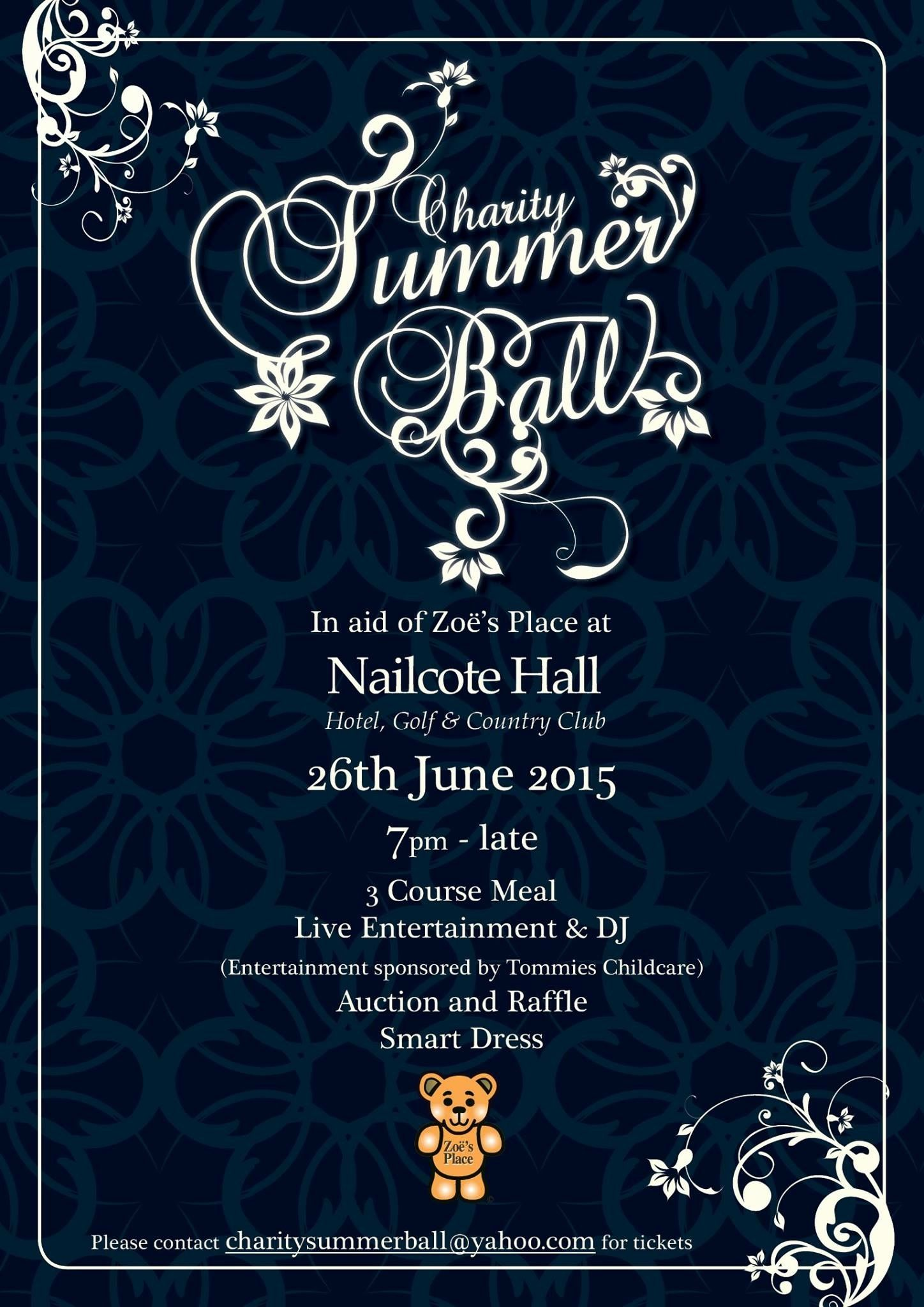 Poster design 2015 - Zoe S Place Charity Summer Ball Poster Design