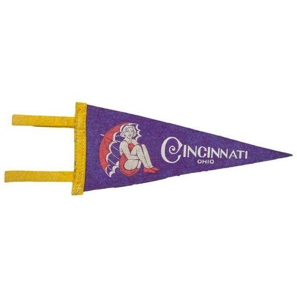 Vintage Cincinnati Ohio Felt Flag Banner (280 CNY) ❤ Liked On Polyvore  Featuring Home