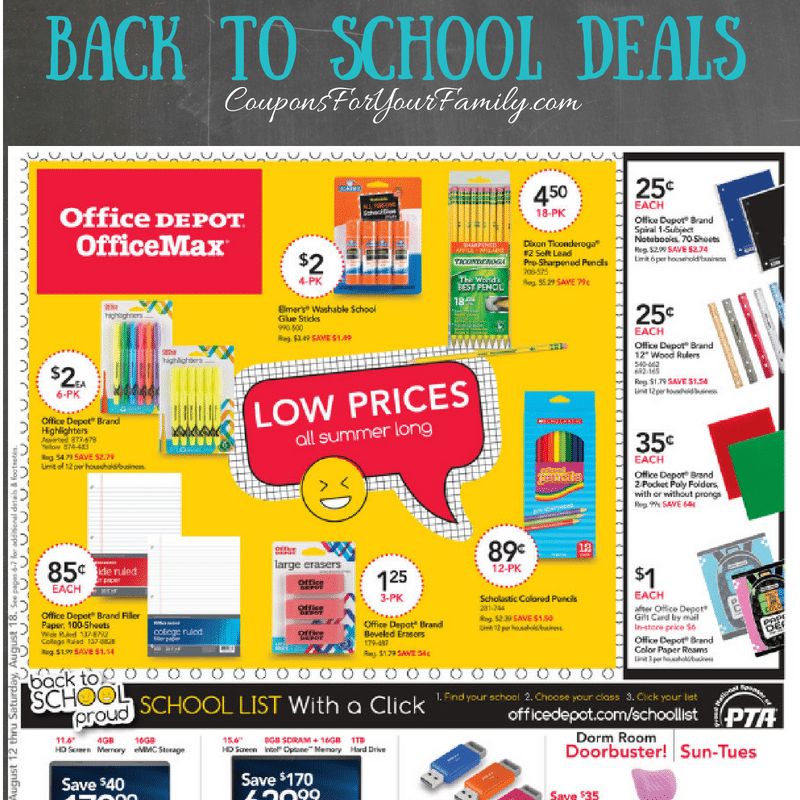 Office Depot Weekly Ad Preview & Back To School Deals