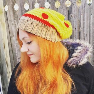 dbe2641d88c My pizza Slouchy Hat crochet pattern has been featured on the lovely blog   stitch11 -