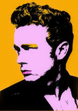 warhol:  James Dean 2010 Andy Warhol is my HERO! I am always inspired through him, in all what I do … #andywarhol