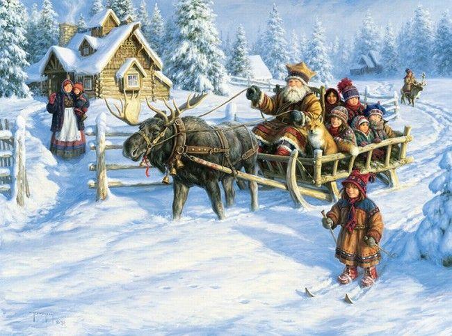 картины художника robert duncan  17  weihnachtskunst