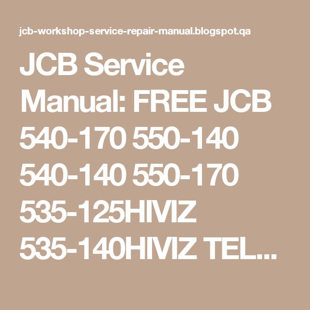 manual for jcb 540